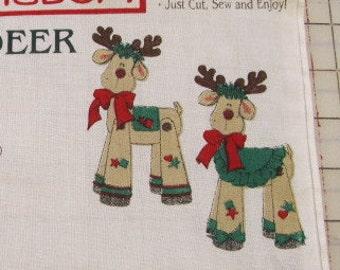 Rikki Reindeer fabric panel #3238 by Daisy Kingdom from 1997 Christmas Destash