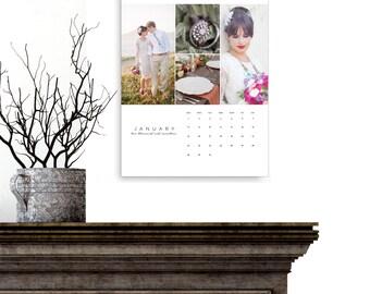 Calendar, 2019-2020 YEAR US Printable Photo Calendar Template, Photoshop Template, Monthly Photo Calendar, C145US, INSTANT Download