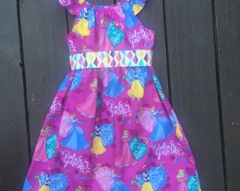 3T Disney Princess Peasant Dress with Flutter Sleeves and Sash, Size 3T, Ready to Ship, Disney, Princess, Birthday