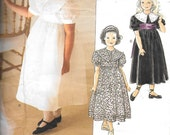 Little Vogue 1754, Girl's Special Occasion Dresses, An American Designer, Strasburg Heirloom Collection,  Sizes 5, 6, 6X, UNCUT