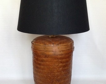 Grand Scale Basket Lamp