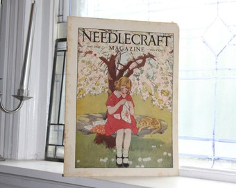 1928 Needlecraft Magazine May Issue Vintage 1920s Sewing