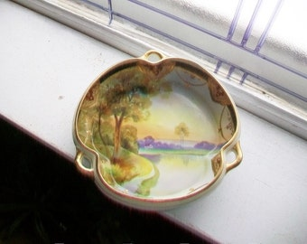 Hand Painted Nippon Bowl Vintage 1920s Blue Mark
