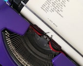 Custom Poem Written Just for You - typewriter typed poetry, art, intuitive message