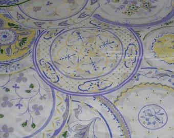 """Beautiful Plate Pattern fabric 100% Cotton 36""""L x 44""""W"""
