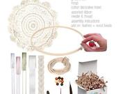 "6"" Dream Catcher Kit - Bohemian Baby Shower Gifts, Dream Catcher Wedding, Boho Wedding Decorations"