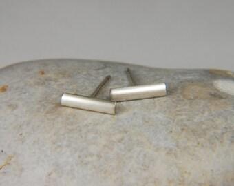 Silver Bar Earrings Silver Line Earrings 925 Silver Stud Earrings Sterling Silver Studs Silver Minimal Earrings