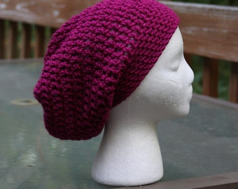 The Sparrow Slouchy Beanie in Magenta - Ready to Ship