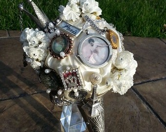 Brooch / Charm Custom Keepsake Bouquet - Steampunk -