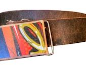 Reclaimed Flip Board Skateboard belt buckle - Gift for Men - One of a kind - snap on belt buckle - OOAC Upcycled belt buckle unique gift