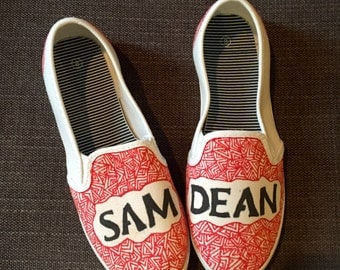 Supernatural Sam And Dean Custom Shoes