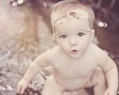TRIBAL COLLECTION ~ Tribal Princess (Newborn Tieback, Newborn Headband, Newborn Halo, Newborn Photo Prop, Natural, Organic, Feathers)