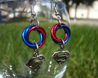 Superman Mobius Earrings