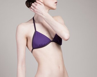 purple triangle bikini ( top size XS,S and L /bottom M or L)