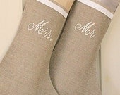 Personalized wedding gift Mr and Mrs Christmas stockings Wedding gift for couple Unique wedding gift