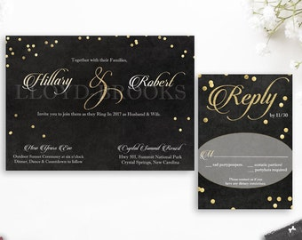 new years eve wedding | etsy uk, Wedding invitations