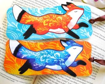 Running Fox Bookmark, Illustrated bookmark,  unique bookmarks