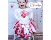 Valentines tutu, Fabric Tutu, Valentines day outfit, valentines day shirt, valentines tutu, valentines day skirt, first valentines day