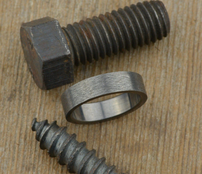 6mm mens wedding band rhodium plated