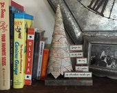 Rustic nursery decor birth announcement Paper trees  woodland nursery baby boy plaid baby stats bookend rustic home decor family tree