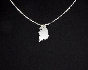South Korea Necklace - South Korea Jewelry - South Korea Gift