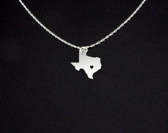 Texas Necklace - State Necklace - State Charms - Gifts for Her - Texas Jewelry - Texas Gifts - Black Friday Gift