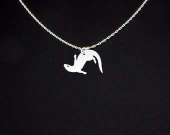 Sea Otter Necklace - Sterling Silver