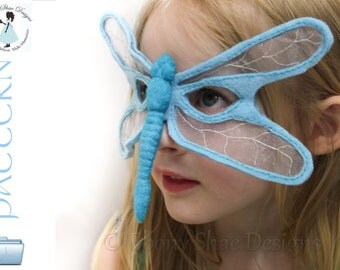 Dragonfly Mask PATTERN - Kids Dragonfly Costume
