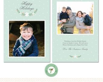 5x7 Christmas / Holiday Card Template - H59