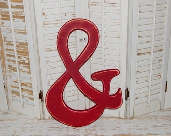 """Large Ampersand Sign  """" &"""" Wedding Decor Wall Letters Wedding Photo Booth Props"""