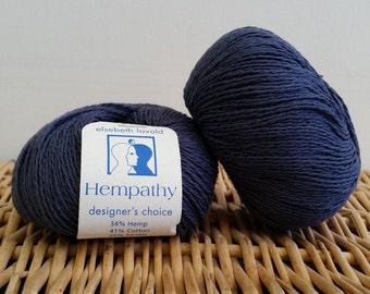 Cotton Yarn, Hemp Yarn, Sport Yarn, Elsebeth Lavold Hempathy, Natural Yarn, Hazy Blue 41