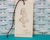 Handmade Set of 8 Alice in Wonderland Tags