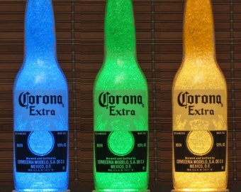 Romana sambuca liqueur italy color changing bottle lamp bar corona beer 12 oz remote control color changing bottle lamp bar light accent lamp glass mozeypictures Images