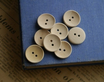 "30 pcs Natural Raw Wood Buttons 20mm 6/8"" (WB2982)"