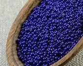20g 11/0 seed beads Czech seed beads Czech rocailles 11/0 seed beads Opaque Navy Blue seed beads NR 330