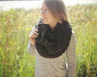 Oversized Cowl, Crocheted Scarf, Crochet Infinity Scarf, Chunky Winter Scarf, Made to Order