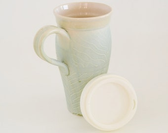 Large Ceramic Travel Mug With Lid And Infuser By