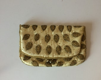 Vintage Beaded Foldover Clutch