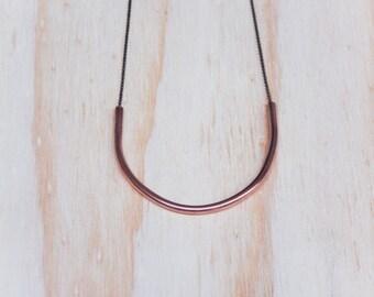 Copper Half Moon Necklace