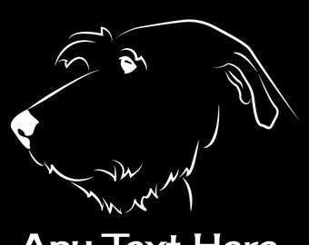 Irish Wolfhound Vinyl Car Decal