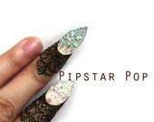 Iridescent Cat Claw finger tip ring (1 piece or Set of 5) Adjustable Armor Ring Cat Burgular Cosplay, Elven Armor,Gothic Fairy,Vampires