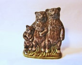 THREE BEARS Wade Figurines, Large Wade Whimsies, Made in England Wade Nursery Rhyme Figurine