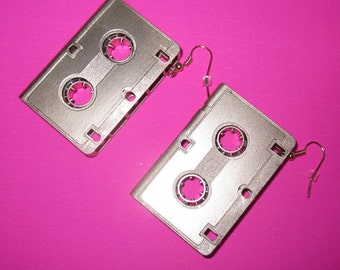 My Mixtape Retro Cassette Tape Earrings Silver or Gold