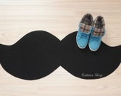 Mustache rug. Choose gross or thin and the color of your mat.