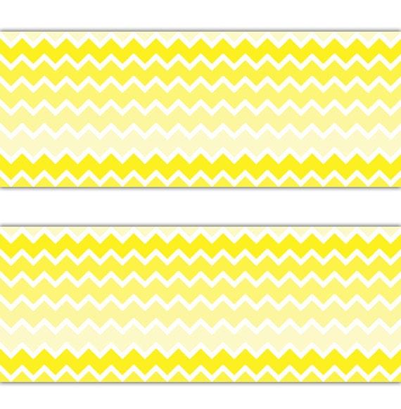 chevron yellow ombre wallpaper border wall decals baby nursery