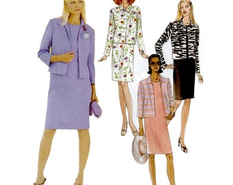 McCalls 3496 Misses / Petites Straight Dress, Lined Jackets Womens Sewing Patterns Size 8 10 12 14 UNCUT