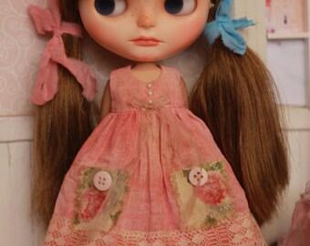 OOAK - Vintage Dress for Blythe Doll
