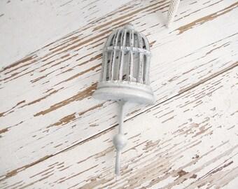 Hook bird cage wall metal white iron bird towel hat hanger