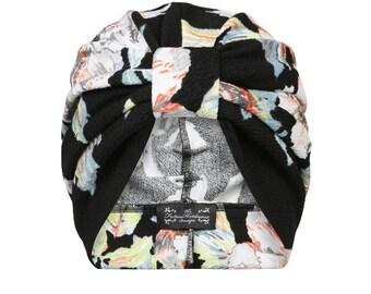 Frankie Floral Jersey Turban