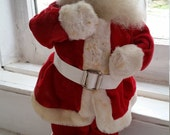 Antique Vintage Harold Gale Santa Doll | Store Christmas Display | Red Plush Suit